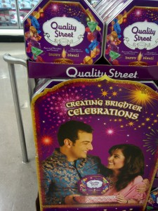 Diwali-themed Quality Street chocolate tins