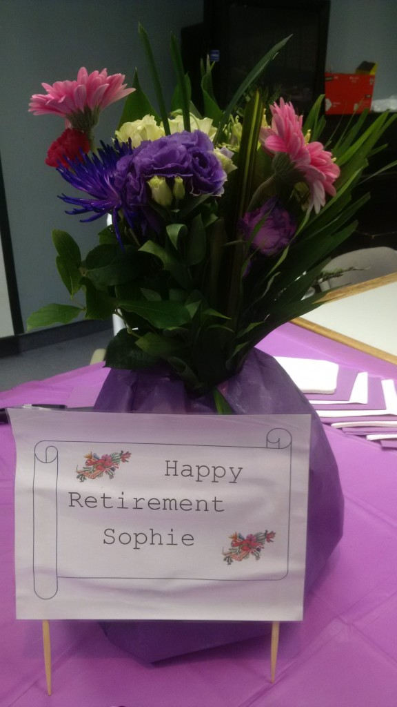 Happy Retirement, Sophie!