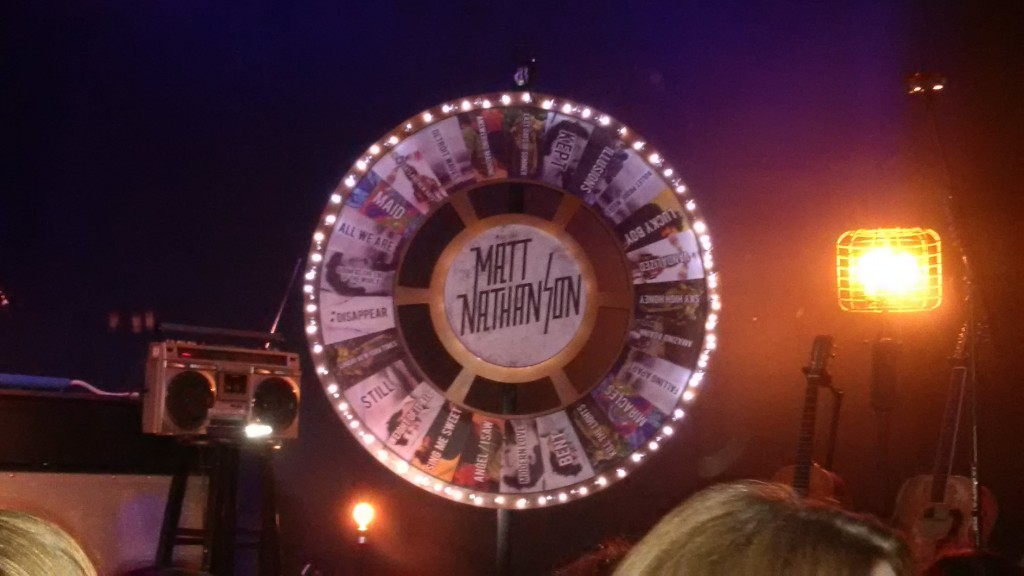 A wheel of Matt Nathanson songs
